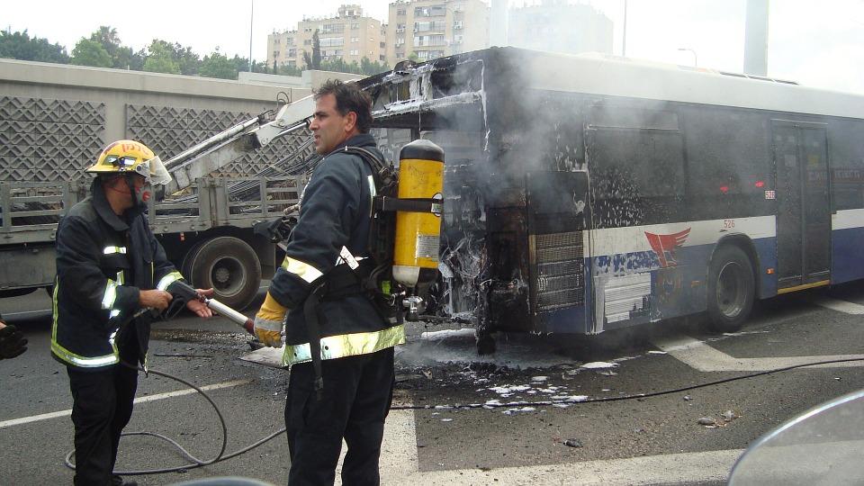 Bus and SUV Crash
