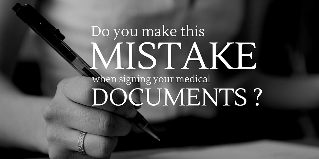 Do you make this mistake when you sign paperwork?