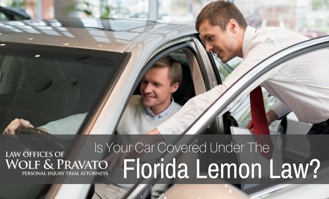 Florida Lemon Law Used Cars >> Is Your Car Covered Under The Florida Lemon Law? | Wolf and Pravato
