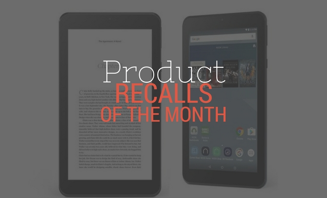 February Product Recalls of the Month