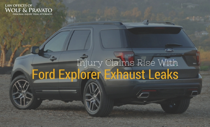 Ford Explorer Exhaust Leak >> Injury Claims With Ford Explorer Exhaust Leaks Wolf Pravato