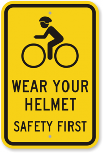 wear helmet on bicycle