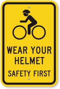 wear helmet on bicycle