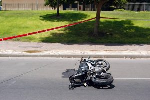 lane splitting on a motorcycle
